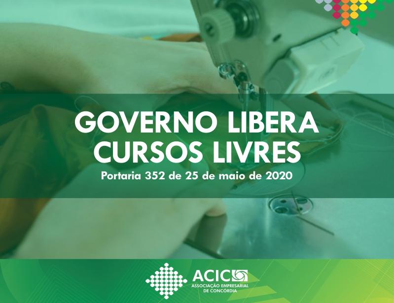 Coronavírus em SC: Portaria autoriza retorno do ensino presencial de cursos livres no estado