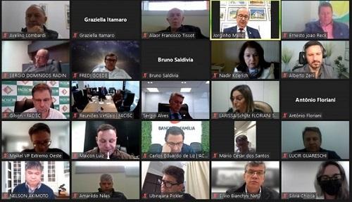 Jorginho Mello anuncia para diretoria da Facisc que Programa Relp será votado na próxima semana